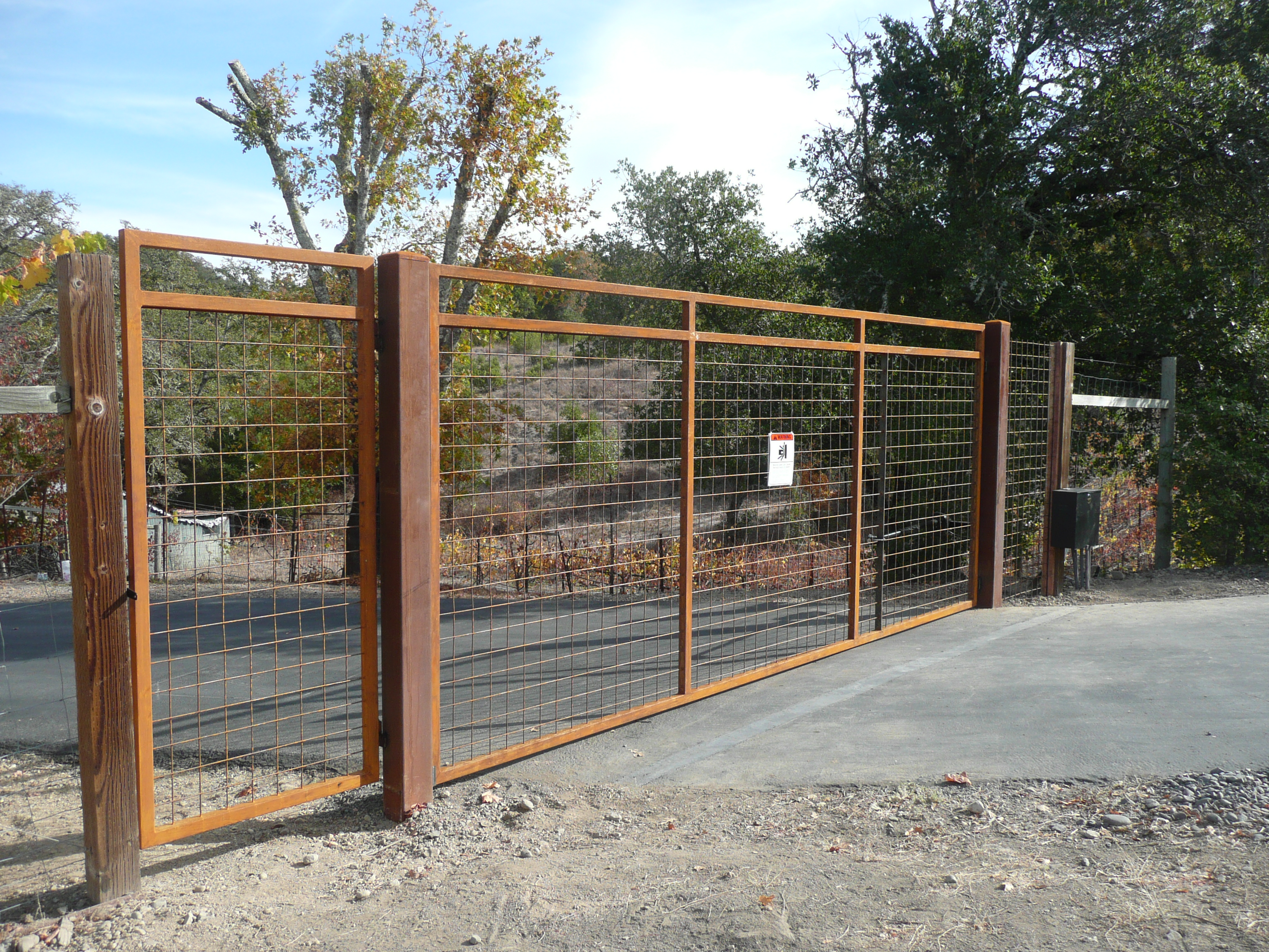 Operated Gate With Pedestrian Gate Coggins Fence